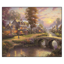 DIY 5D Abstract Tree Cloud Diamond Embroidery Painting Mosaic Landscape Full Drill Round Picture Cross Stitch