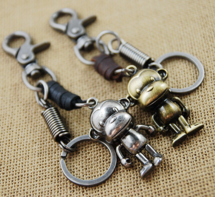 keychain key ring high quality waist hanged  key chain key holder retro hombre
