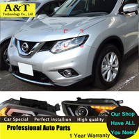 Car Styling Newest LED Headlights For Nissan X Trail Rouge 2014 2015 Headlight Turn Signal DRL