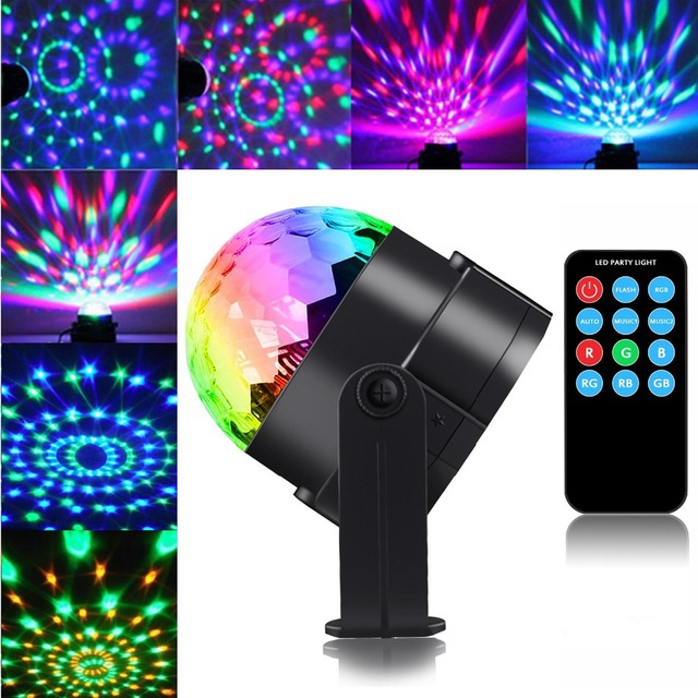 3W Sound Activated Laser Projector RGB Stage Light Bar Work Effect Lamp DJ Disco Ball Lumiere Christmas KTV Music Party Light
