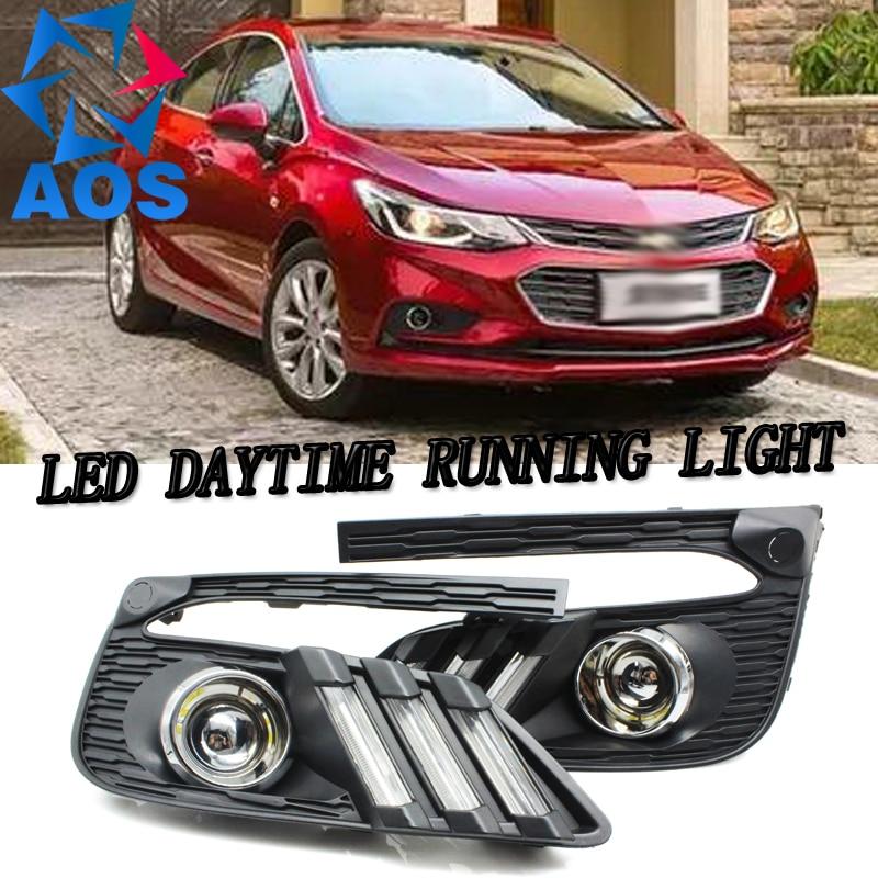 2PCs/set car LED DRL light dimming daylight led drl Daytime Running Light for Chevrolet Cruze 2016 2017 waterproof new design автоинструменты new design autocom cdp 2014 2 3in1 led ds150