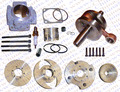 Performance Cylinder Head Piston Ring Crankshaft Kit (Big Bore Kit) for 47CC 49CC Mini Moto Dirt Pit Bike Parts
