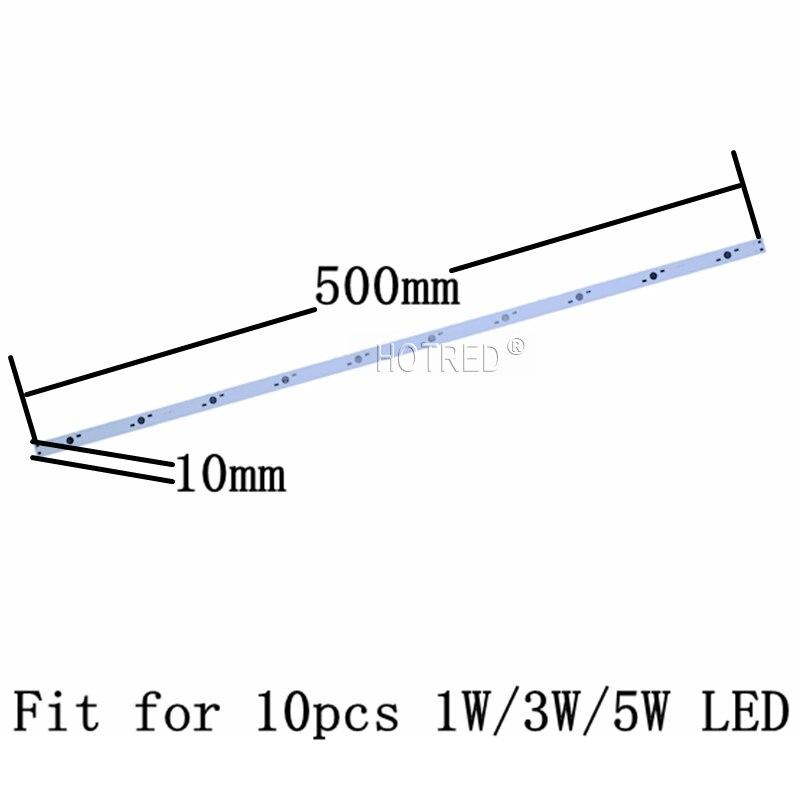 50 pcs 100 pièces 10 W 30 W LED 36 W plaque de Base en aluminium 500mm * 10mm 300*10mm Rectangle lampe pcb pour les lumières de LED haute puissance