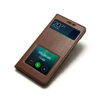 100 Genuine Leather Case For Xiaomi Redmi Note 3 With Window View High Quality Protector Cover