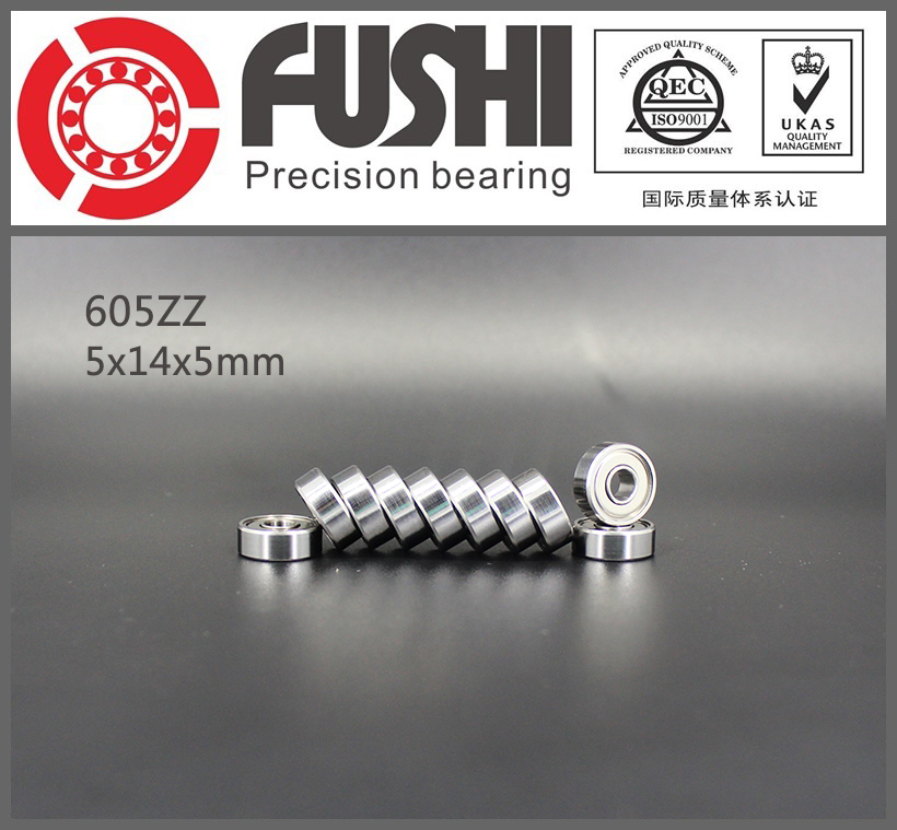 605ZZ Bearing ABEC-5 10PCS 5x14x5 mm Miniature 605Z Ball Bearings 605 ZZ EMQ Z3V3 607zz abec 5 10pcs 7x19x6mm miniature ball bearings 607z emq z3v3