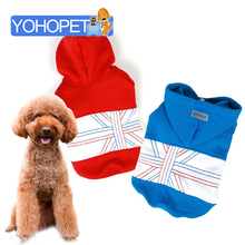 Free shipping 2013 new arrival autumn winter 100% cotton dog jacket cotton-padded dog clothes,UK flag pattern dog coat winter все цены