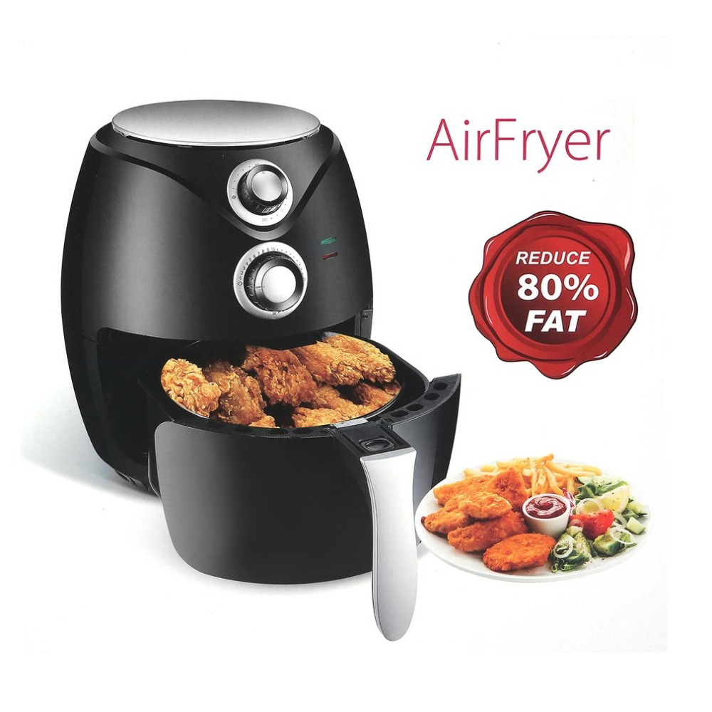 1400W 2.8L Fryer Air Oven Electric Scamper Oven Household Fryer Grill Grease Free Cooker Smokeless Hot Air Fryer EU Plug 1400w 2 8l fryer air oven electric scamper oven household fryer grill grease free cooker smokeless hot air fryer eu plug
