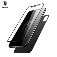 Baseus Premium Front Back Screen Protector For IPhone X Film 3D Full Body Cover Rear Toughened