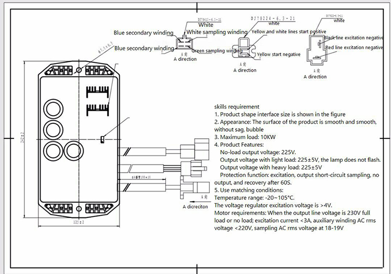 Universal 8 wires Gasoline Generator Spare Parts 8kw 15kw Avr single phase Brush AC Automatic voltage brush motor wiring diagrams single phase electrical wiring diagrams