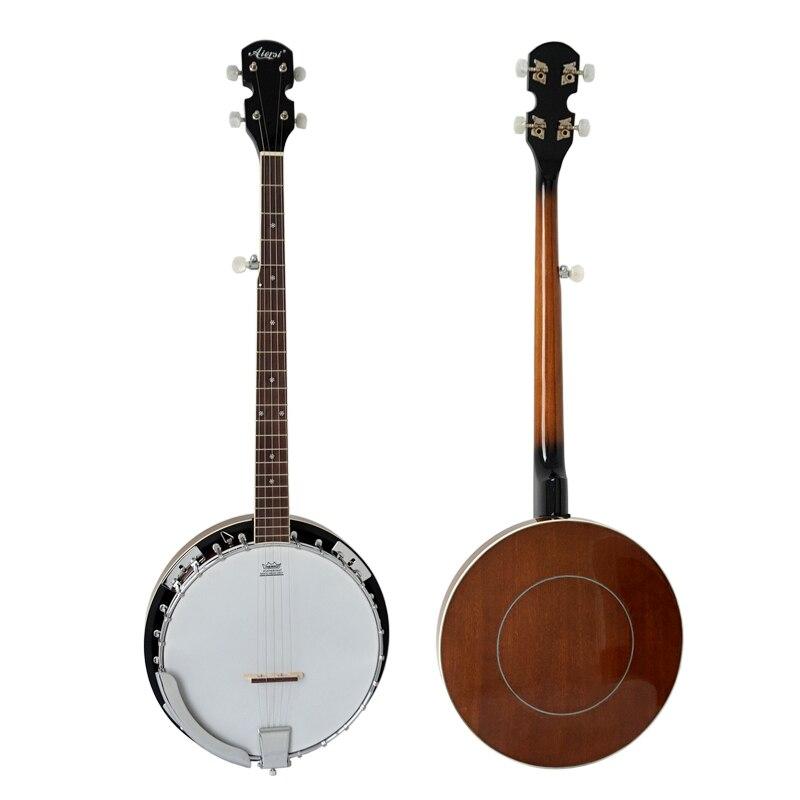 Livraison gratuite couverture résonateur en acajou 5 cordes et 6 cordes banjo banjitar