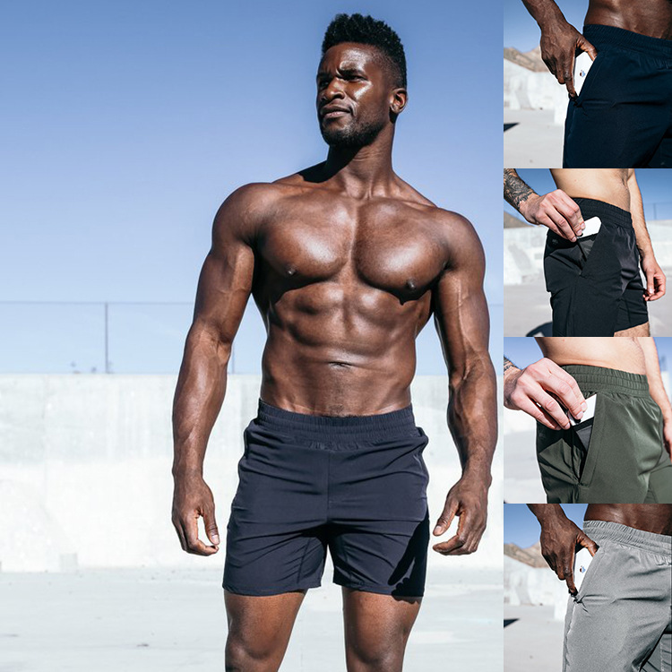 Mens Casual   Shorts   Run Jogging Sports Feel Cool Quick Dry Light Weight Bodybuilding Crossfit Sportswear Male   Short   Pants