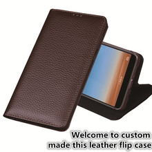 LJ16 Genuine Leather Flip Cover Case For Sony Xperia XA1 Plus(5.5) Phone Plus