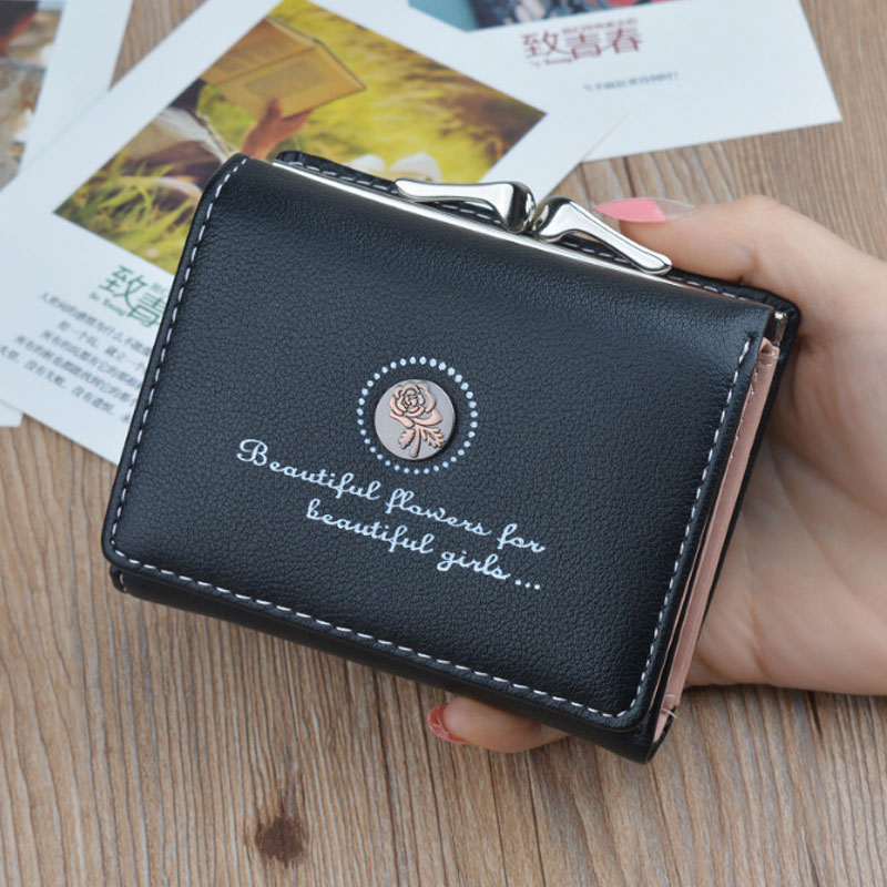 все цены на Mini Leather Womens Wallets Small Women Wallet Luxury Brand Famous Purses Short Female Coin Purse Credit Card Holder