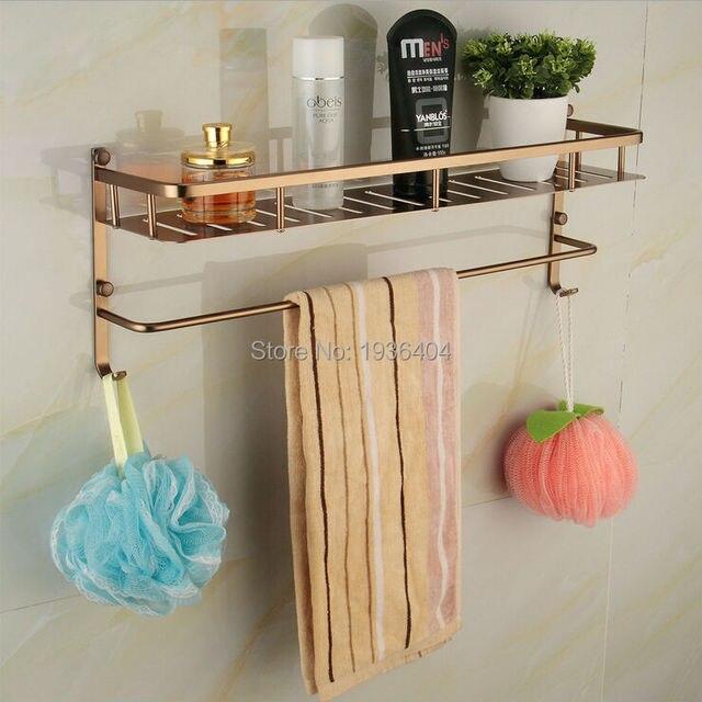 Space Aluminum Bathroom Accessories Storage Holders Basket Shelf Brushed  Corner Wall Mounted Kitchen Basket Rack BS3217
