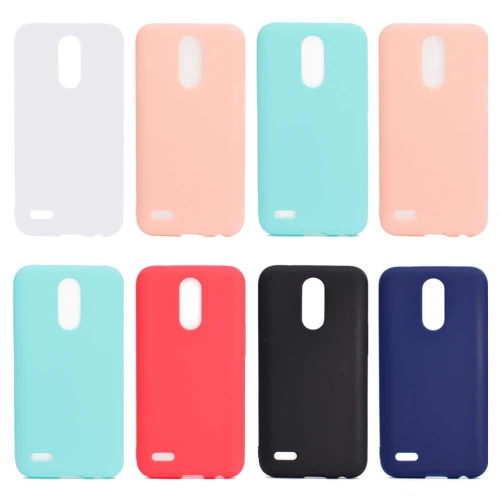 For LG K8 2017 K10 2017 Colors Phone Cases Soft TPU Silicone Rubber Covers For LG K8 2017 K10 2017 Phone Cases Fundas Capa Coque