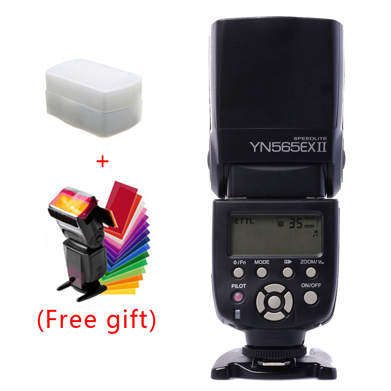 Yongnuo Flash Speedlite YN565EX YN-565EX II Wireless TTL Camera Flash Light For Canon 500D 550D 600D 1000D 1100D 5DII 5DIII DSLR yongnuo yn600ex rt ii 2 4g wireless hss 1 8000s master ttl flash speedlite or yn e3 rt controller for canon 5d3 5d2 7d 6d 70d