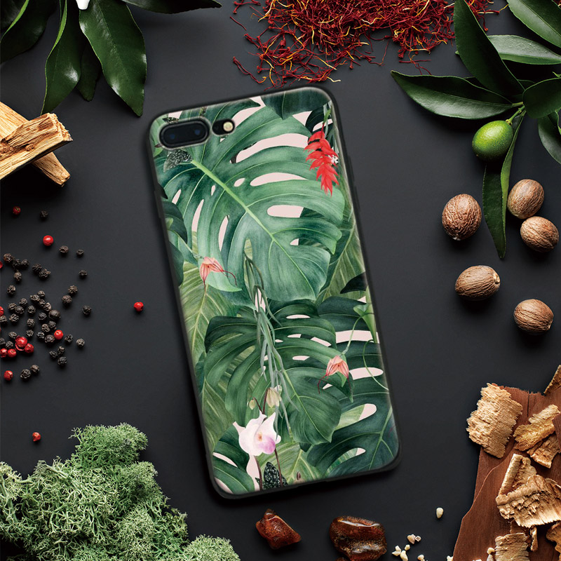 Monstera Flower Green Leaves Plant Tpu Soft Silicone Phone Case Cover Shell For Apple IPhone 5 5s SE 6 6s 7 8 Plus X 10