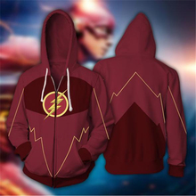 Man Hoodies Sweatshirts Superhero Cosplay 2018 Autumn  3D Print Winter Flash spider-man Hoodie Coats Zipper jacket clothing