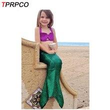 tprpco halloween girl mermaid tail costume princess ariel swimwear bikini soft children kid girl beach dress c28958 - Mermaid Halloween Costume For Kids