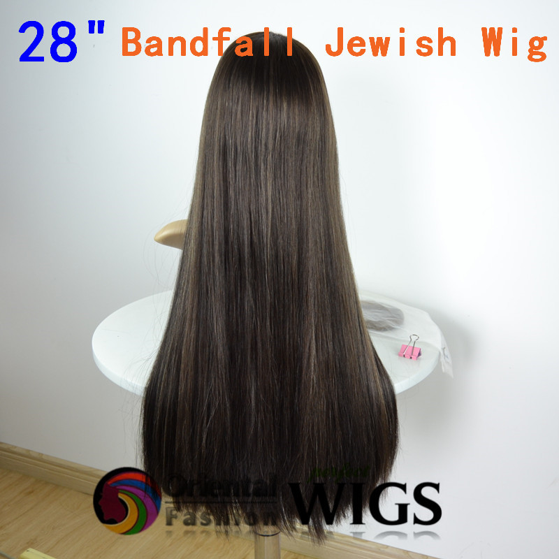 New 114 inch 14#/14# highlights 140% European hair band fall Jewish ...