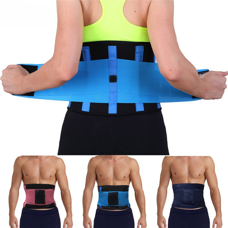 1f69fa6f63 Breathable Slimming Waist Belts Lower Back Support Belt Neoprene Lumbar  Support Colorful Women Waist Trimmer Belt 7Colors
