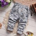 ¡ Venta caliente! 2016 Primavera Ropa Bebé Pantalones Bebé de La Manera Del Todo-Fósforo Pantalones Harén Pantalones de Algodón de Dibujos Animados de Pescado para Niños Bebé 7-24 M