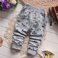 Venda quente! 2016 Primavera Roupas de Bebê Menino Calças Calças Moda Bebê de Algodão Dos Desenhos Animados Dos Peixes Todo o Jogo Harem Pants para Meninos Bebê 7-24 M