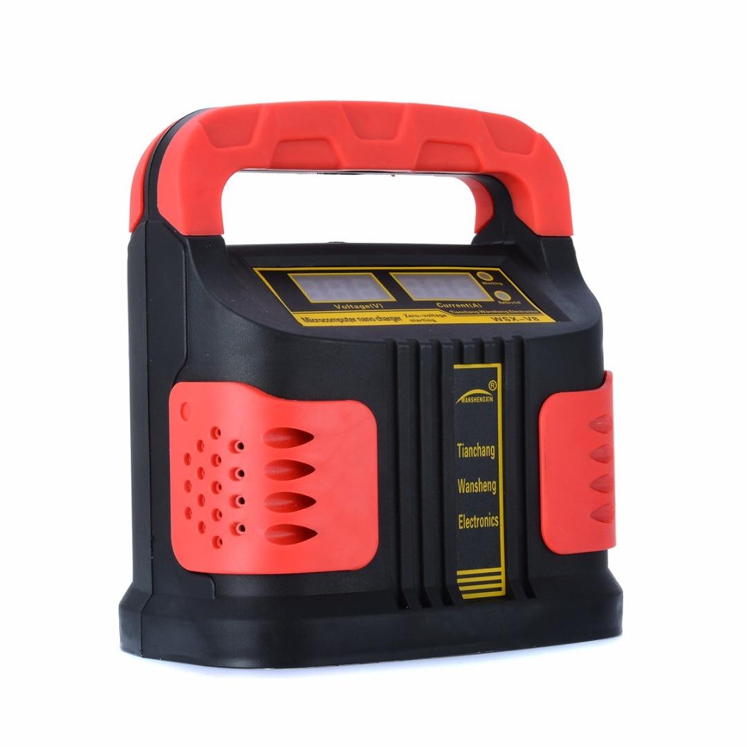 350 W 200A LCD De Voiture Plus Ajuster Chargeur de Batterie 12 V/24 V Auto Moto Chargeur Intelligent Batterie De Réparation Booster