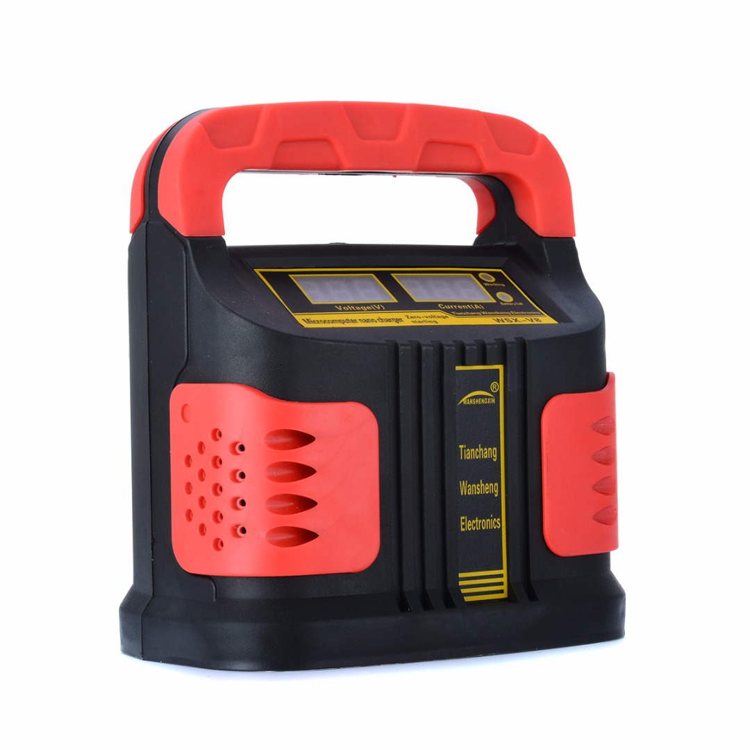 350W 200A LCD Car Plus Adjust Battery Charger 12V/24V Auto Motorcycle Charger Intelligent Repair Battery Booster 350w 12v 24v 200ah portable electric car emergency charger booster intelligent pulse repair type abs lcd battery charge 2 modes