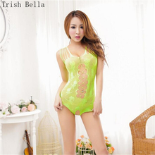 лучшая цена Trish Bella 2018 transparent Hollow out Jacquard weave Sideric colour Europe body sexy costumes bodystocking catsuit open crotch