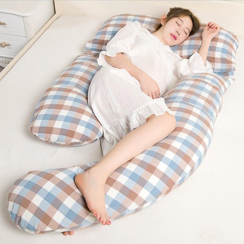 Big Body Pillow Comfortable Maternity Pillow Good Sleep During Pregnancy Detachable Free Combination U Soft Pillow Protect Waist
