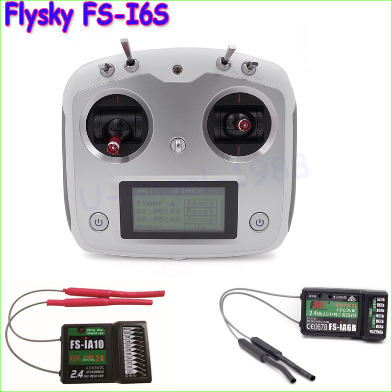1pcs Original Flysky FS-I6S 10ch 2.4G AFHDS 2A RC Transmitter Control w/ FS-iA6B FS-iA10 Receiver For RC Helicopter VS FS-i6 brand new flysky fs ctm01 temperature collection module for ia6b ia10 suitable for rc car boat aircraft quadcopters