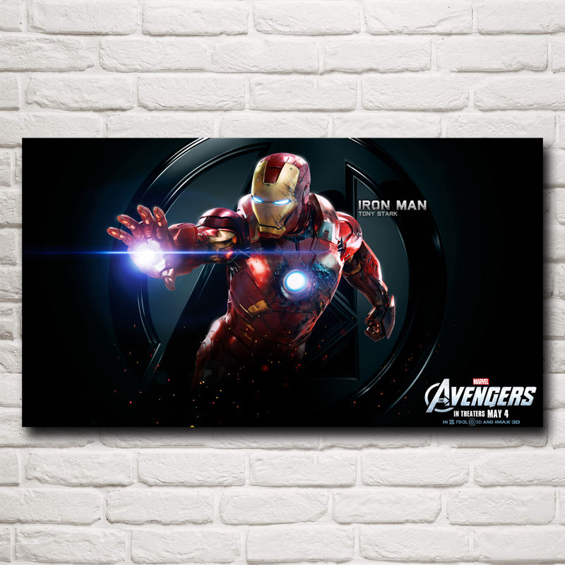 FOOCAME Seeking Visual Arts Store Superhero The Avengers Movie Iron Man Art Silk Fabric Poster Print Home Wall Decor Picture 11x20 16x29 20x36 Inch Free Shipping