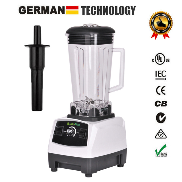 RU ONLY 3HP 2200W BPA Free 2L Top Quality Commercial Grade Blender Mixer Juicer High Power Food Processor Ice Smoothie Bar Fruit 2