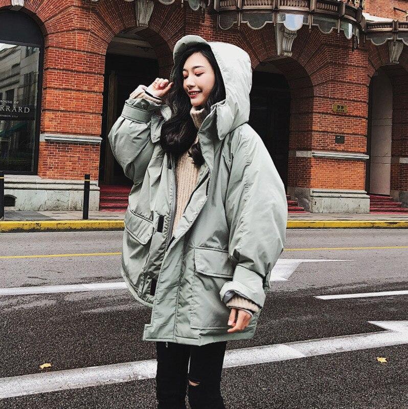 D'hiver Chaud Mode Nouveau Coton À Capuchon celadon Femmes 2018 Black Yz Style Épaississent Lâche Manteau 818 khaki Coréenne Femme Veste wq7tOEtd