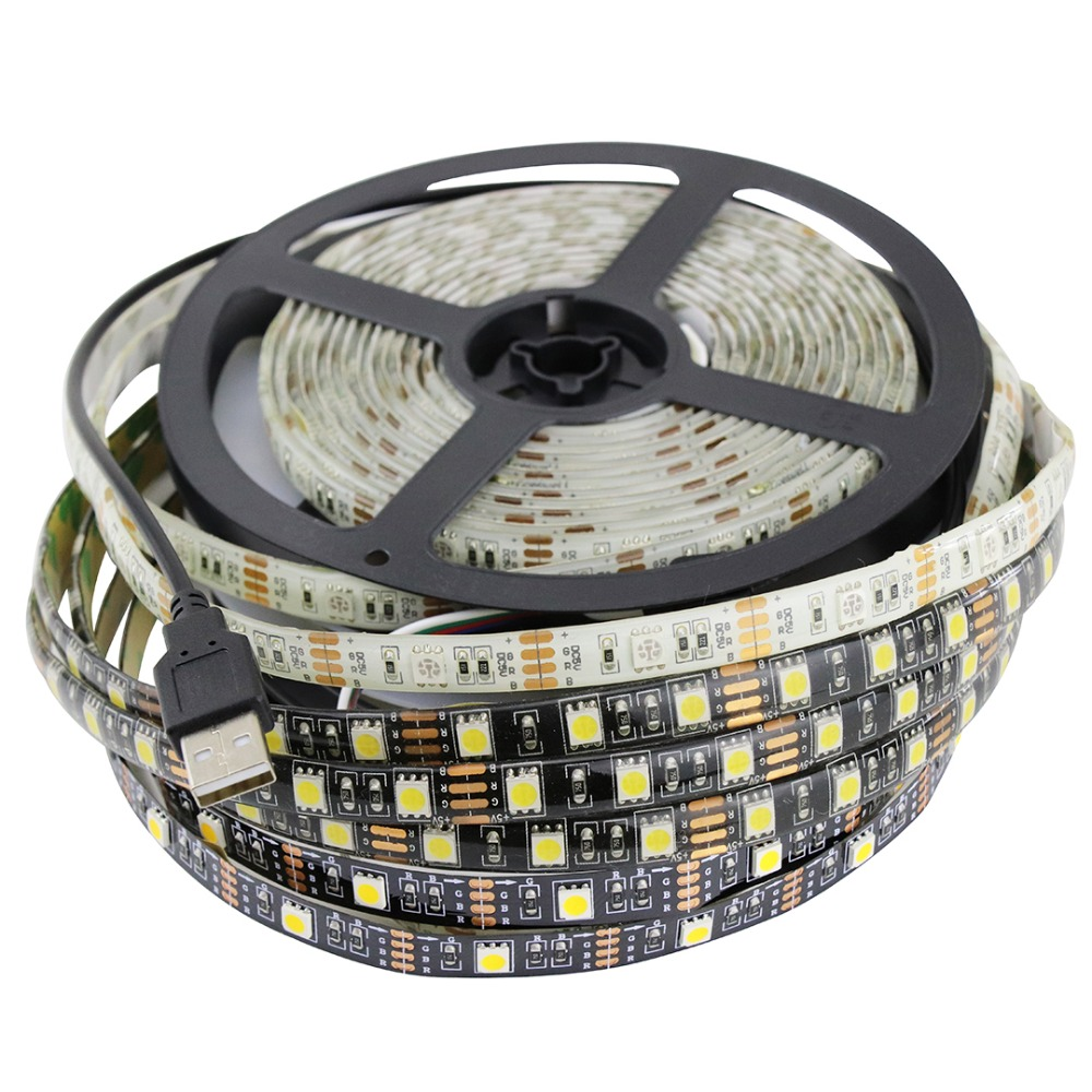 60LED/m SMD5050 USB LED Strip waterproof 5V stripe RGB LED tape for TV backgroud 1m 2m 3m 4m 5m ribbon rope light 5 V white IL 1m 2m 5m 30cm 4 pin rgb led connector extension cable cord wire with 4pin connector for rgb led strip light free shipping