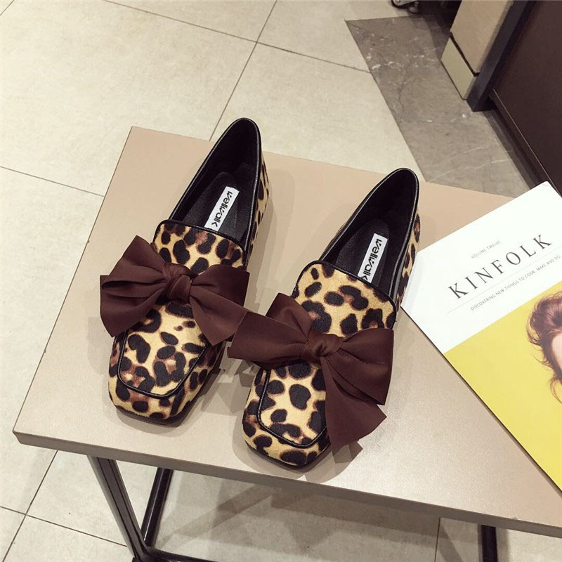 Wellwalk Ballet Flats Woman Shoes Leopard Loafers Women Ballerina Flats Shoes Ladies Black Flats Female Moccasins Shoes Spring 13