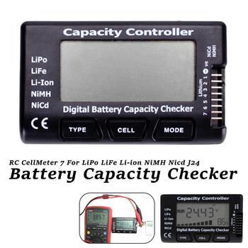 Miernik napięcia akumulatora narzędzie do sprawdzania miernik RC 7 cyfrowa bateria ogniwowa sprawdzanie pojemności dla LiPo LiFe Li-ion Nicd NiMH tanie i dobre opinie Inpelanyu Elektryczne C1304-01 Tester Baterii gospodarstwa domowego Battery Checke 84x50x15mm Digital Cell Battery Capacity Checker