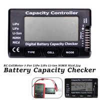 Verificador da capacidade da bateria da pilha de digitas do medidor 7 da ferramenta de verificação do verificador da tensão da bateria para lipo li-ion li-ion nicd nimh