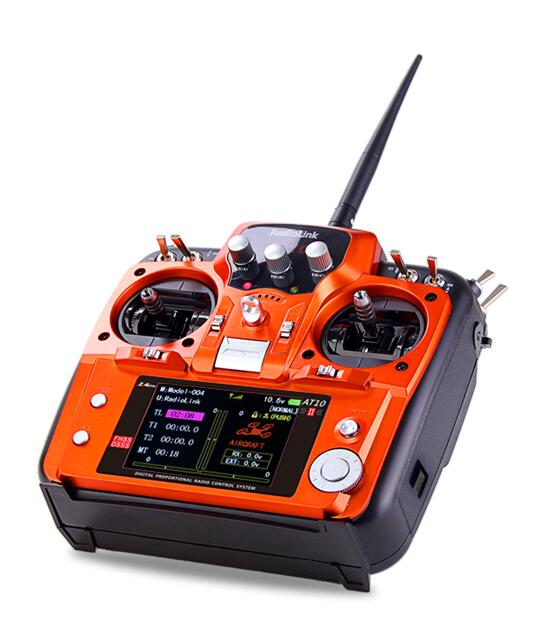 RadioLink AT10 II 2.4Ghz 10CH RC Transmitter with R12DS Receiver PRM-01 Voltage Return Module with Neck Strap for gift
