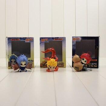 7 см Горячая Аниме Наруто классический фигурку модель игрушки Uzumaki Naruto Утиха Саскэ и Гаара ПВХ В версии модель для друга подарок