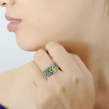 Flower Ring for Woman Colorful Transparency HANDMADE