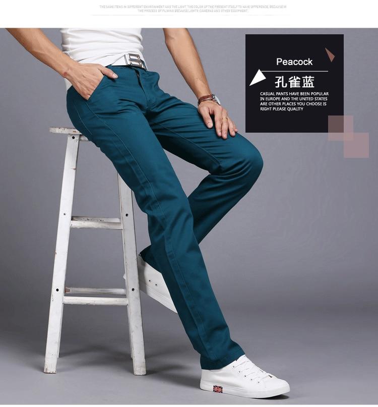 HTB1gb TasnrK1RjSspkq6yuvXXaT TANGYAXUAN New Design Casual Men pants Cotton Slim Pant Straight Trousers Fashion Business Solid Khaki Black Pants Men 28-38