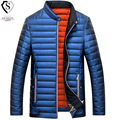 Men Down Jacket 2016 Brand Winter Warm Duck Down Jacket Men Fashion Stand Collar Casual Parka Man Zipper Big Size XXXXL