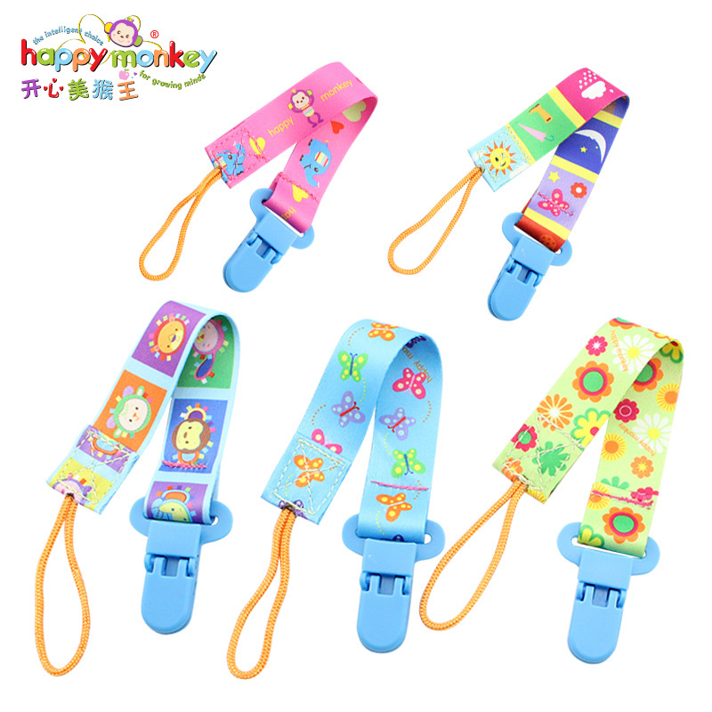 Baby Pacifier Clip Chain Toys Cartoon Portable Hanging Tie Nipple Holder Fixed Fastening Belt For Newborns Baby Toys 0-12 Months
