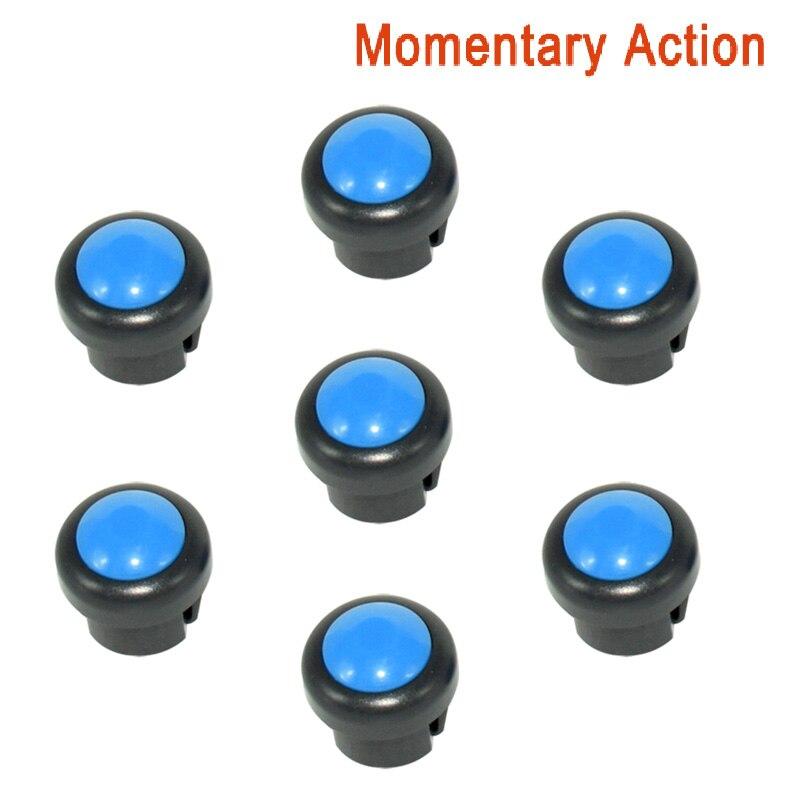 7 x кнопка включения мотоцикла сигнал поворота Высокий Низкий Луч Электрический старт Kill ON OFF кнопки мгновенного действия с фиксацией - Цвет: Blue B