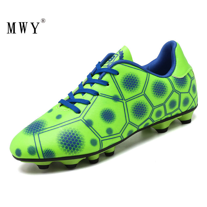 MWY Soccer Shoes Kids Long Spikes Outdoor Boys Football Shoes Sportschoenen Heren Soccer Cleats Wear Resistant Sneakers Trainers