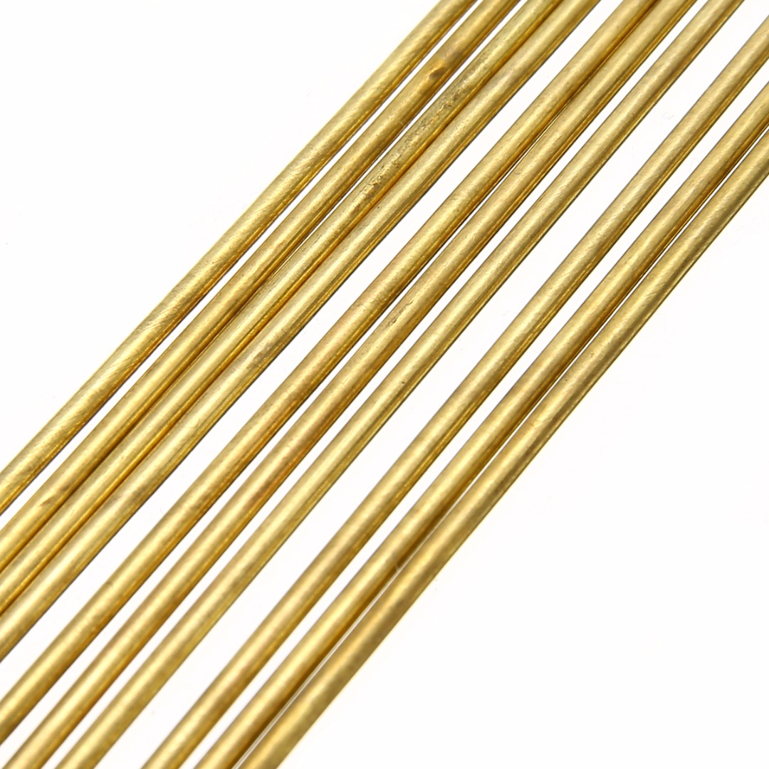 10pcs 1.6mm Diam Brass Rods Gold 250mm Length Wires Sticks Good Plasticity Repair Weld Tool For Welding Brazing Soldering