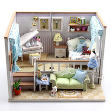 Doll House Miniature DIY Dollhouse With Piano Furnitures Wooden House Toys For Children Birthday Gift