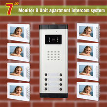 8 units apartment intercom system video doorbell intercom system for apartments video door phone home visual intercom system
